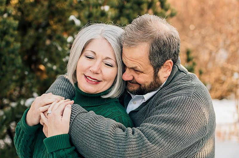 Kristin Holt and husband, celebrating thirty-one years of marriage. Photo copyright Kylee Ann Studios.