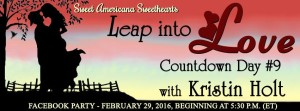 Kristin Holt | Sweet Americana Sweethearts Leap into Love countodwn day 9, Kristin Holt