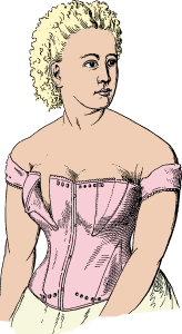 Kristin Holt | Corsets in the Era: Yes, even Maternity Corsets. Image of Nursing Corset: US-Patent 169,159 (year 1875) Sheewood B. Feebis - U. S. patent no. 169,159 [Image: Public Domain]/