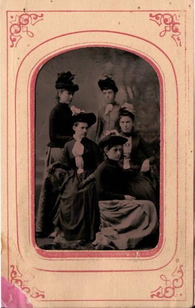 Kristin Holt | Photographic Inspiration. Vintage photograph of five young women, Victorian era.