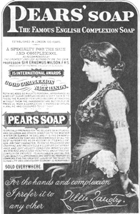 """A Female Endorser of Pears' Soap states, """"For the hands and complexion, I prefer it to any other."""""""