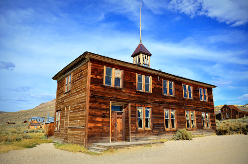 Kristin Holt   Education in the Old West. Image: Schoolhouse in Bodie, California.
