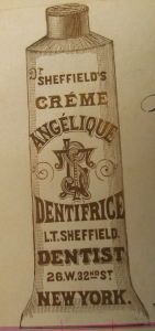 Dr. Sheffield's Crème Angelique Dentifrice, Sheffield Pharmaceuticals - Sheffield Pharmaceuticals' Private Archives, Public Domain