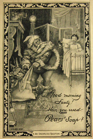 Pears Soap Santa commercia 1897
