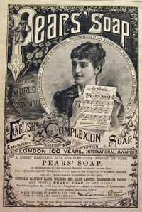 Kristin Holt | Celebrities Endorse Pears' Soap in 1880's Magazines. Pears Soap advertisement