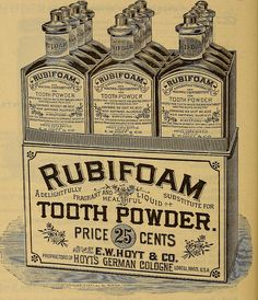 Rubifoam tooth powder advertisement