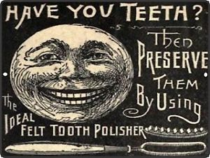 Vintage Tooth Care Advertisement for Felt Tooth Polisher