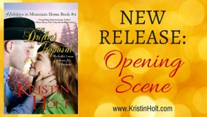 "Kristin Holt | New Release: Opening Scene (The Drifter's Proposal)"" by USA Today Bestselling Author Kristin Holt. Related to Book Description: The Drifter's Proposal."