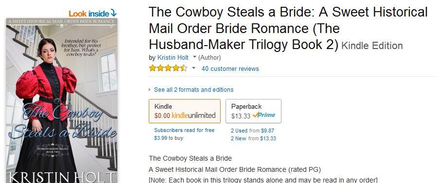 Cowboy Description page