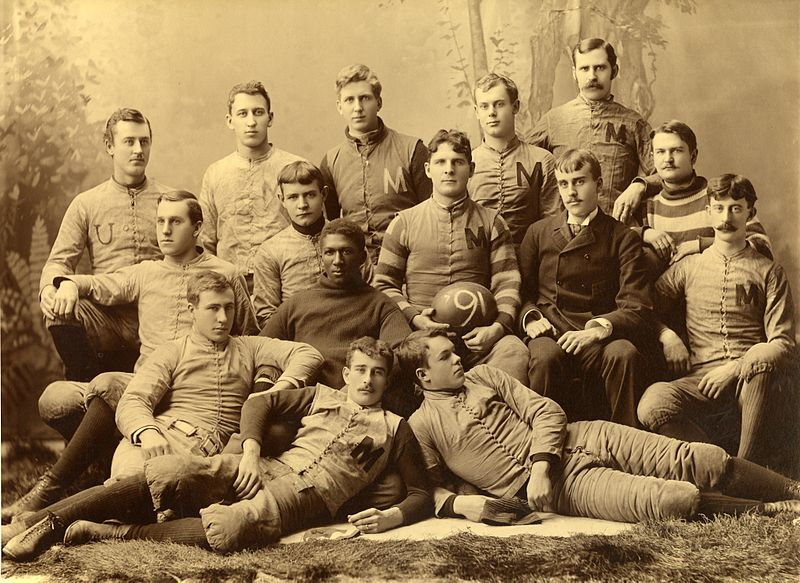 Official photograph of the 1890 University of Michigan football team. [Image: Public Domain] Source: Wikimedia Commons