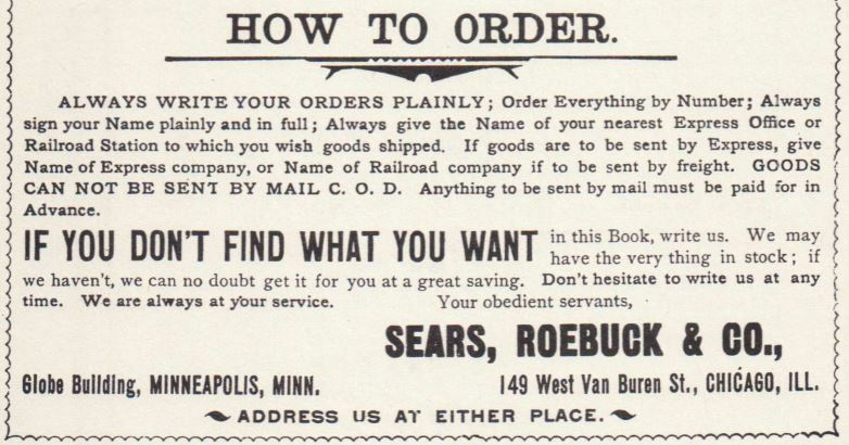 How to Order: Sears, Roebuck & Co., 1894, pg 4.