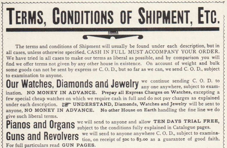 Sears, Roebuck & Co., 1894, pg. 4
