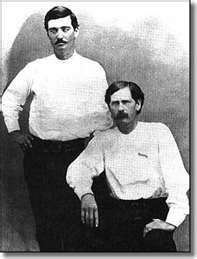 Bat Masterson and Wyatt Earp in Dodge City, 1876.