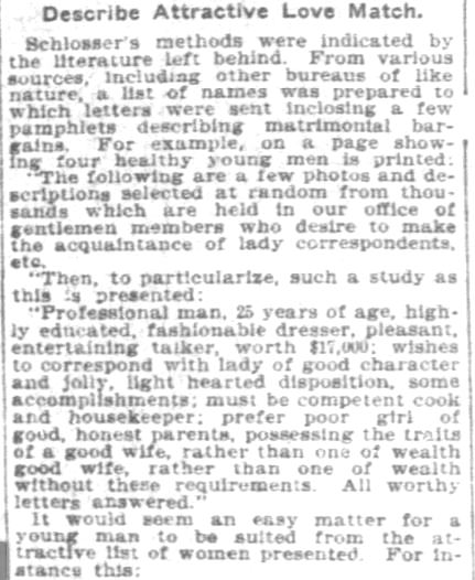 Chicago Standard Correspondence Club, Part 3. Pittsburgh Daily Post. 9 November, 1902.