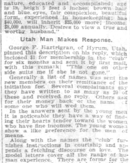 Chicago Standard Correspondence Club, Part 5. Pittsburgh Daily Post. 9 November, 1902.