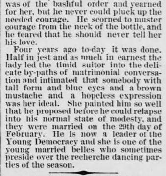 Every 4 Years. part 6. The Saint Paul Globe. St. Paul MN. 15 Jan 1888. Sunday. Pg 4