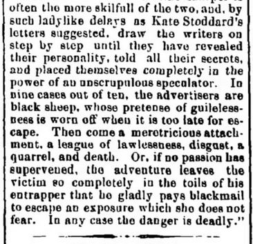 Article reported in The Herald and Torchlight, Hagerstown, Maryland. 6 August, 1873. Part 2 of 2.