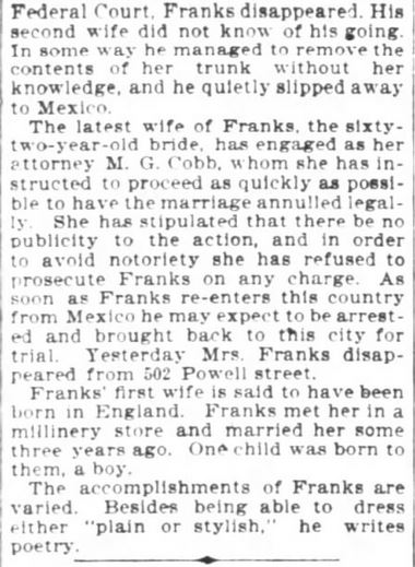 San Francisco Chronicle. 29 January, 1899. Part 10 of 10.