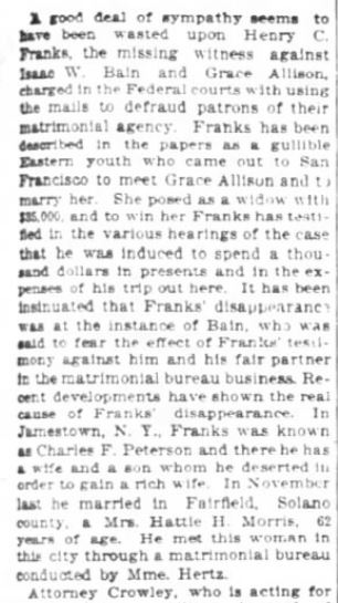 San Francisco Chronicle. 29 January, 1899. Part 3 of 10.