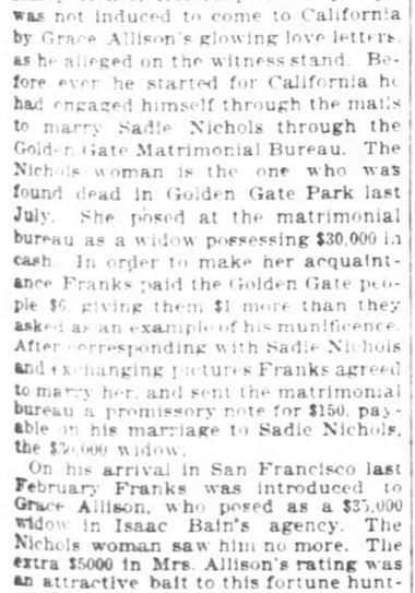 San Francisco Chronicle. 29 January, 1899. Part 5 of 10.