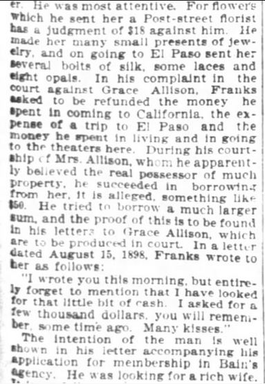 San Francisco Chronicle. 29 January, 1899. Part 6 of 10.