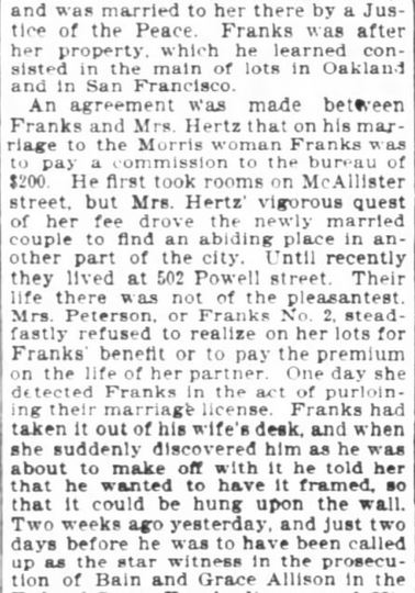 San Francisco Chronicle. 29 January, 1899. Part 9 of 10.