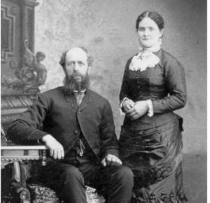 Jay Hemsley and his wife Sarah Baines Hemsley on their wedding day; image from OBJECT: Matrimony, by Chris Enss, p. 105