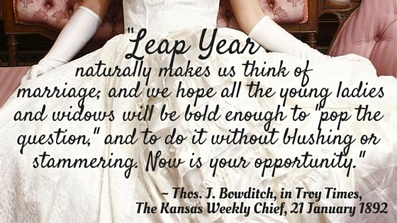 Victorian Leap Year Traditions, Part 2 - Kristin Holt