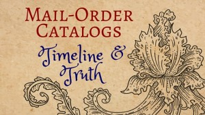 Kristin Holt | Mail-Order Catalogs Timeline and Truth. Related to 19th Century Bathing Costumes from Harper's Bazaar.