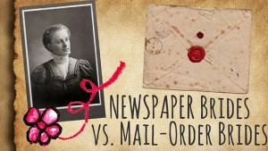 Kristin Holt | Newspaper Brides vs Mail-Order Brides. Related to Courtship, Old West Style