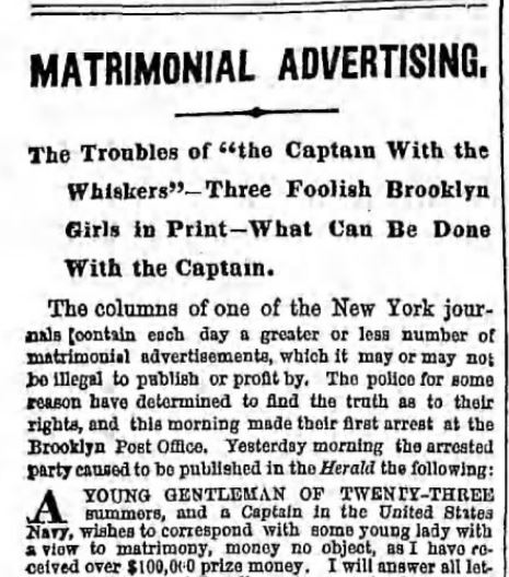 The Brooklyn Daily Eagle. Brooklyn NY. 10 May 1865. Part 1 of 6.