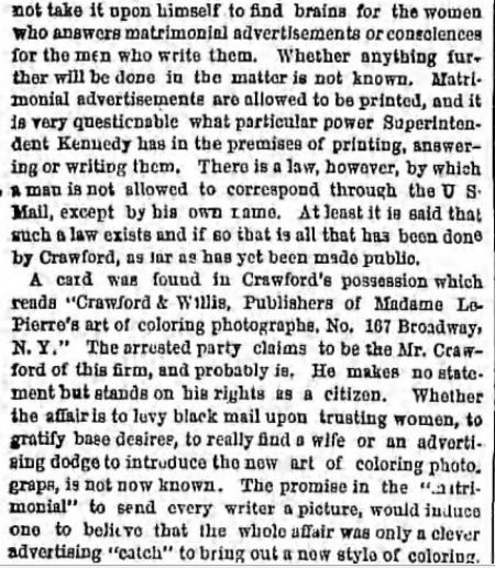 The Brooklyn Daily Eagle. Brooklyn NY. 10 May 1865. Part 3 of 6.