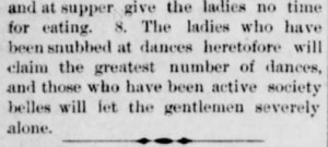 Rules for Leap Year Parties. Part 2. The Interior Journal. Stanford KY. 30 March 1888.