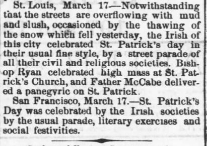 Anniversary Observed. Part 1. The Daily Commonwealth. Topeka KS. 18 Mar 1879