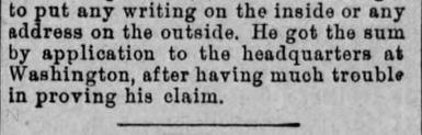 Duped People. Part 3. The Plain Speaker. Hazelton PA. 7 July 1890
