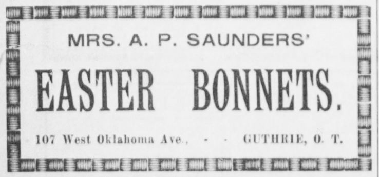 The Guthrie Daily Leader, Guthrie, Oklahoma. 12 April 1898.