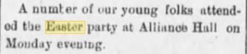 The Dallas Weekly Post, Dallas, Pennsylvania, 16 April 1898.