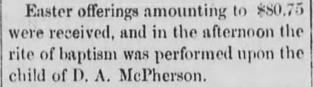 Black Hills Weekly Pioneer, Deadwood, South Dakota, 23 April 1881.