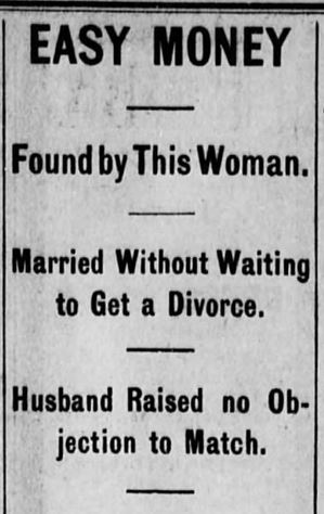 Easy Money Pt 1. Akron Daily Democrat. Akron OH. 24 Jan 1900 Wed Pg 4