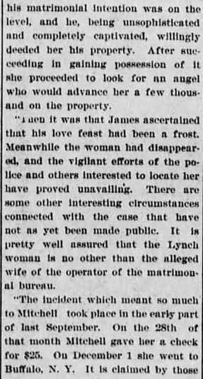 Easy Money Pt 4. Akron Daily Democrat. Akron OH. 24 Jan 1900 Wed Pg 4