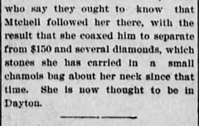 Easy Money Pt 5. Akron Daily Democrat. Akron OH. 24 Jan 1900 Wed Pg 4