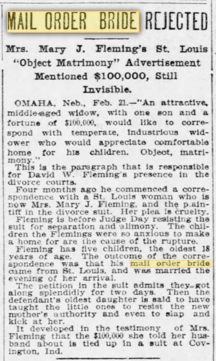 FIRST USES of term MOB. 22 Feb 1903. St. Louis Post-Dispatch