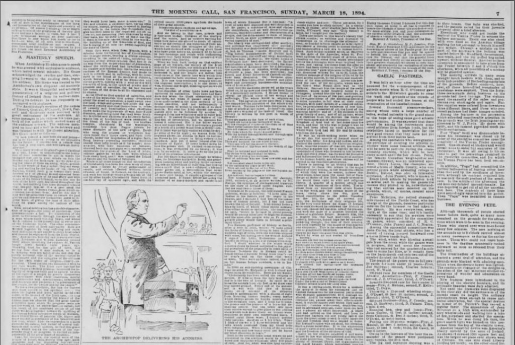 Ireland's Day. Whole Page part 3. San Francisco march 18 1894