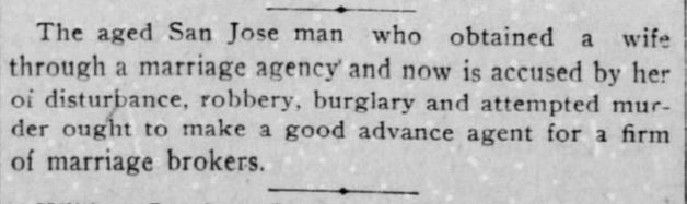 The San Francisco Call. 1 November, 1900, Thursday. Page 6.