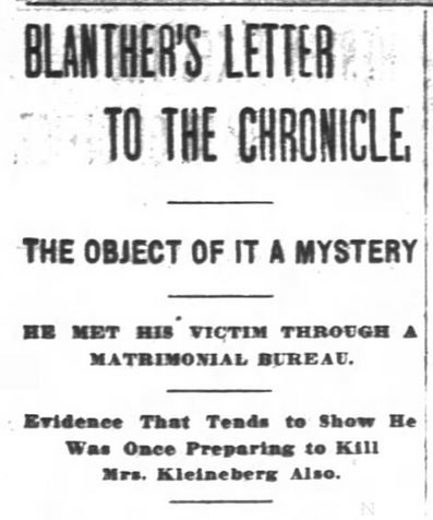 Header of article: San Francisco Chronicle. 4 June, 1896.
