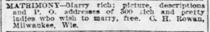 Rowan Co. Ad. St. Louis Post-Dispatch. 15 Feb 1903