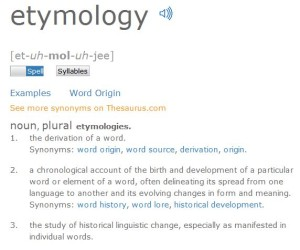 etymology definition pic
