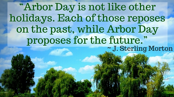 """Arbor Day is not like other holidays. Each of those reposes on the past, while Arbor Day proposes for the future."""