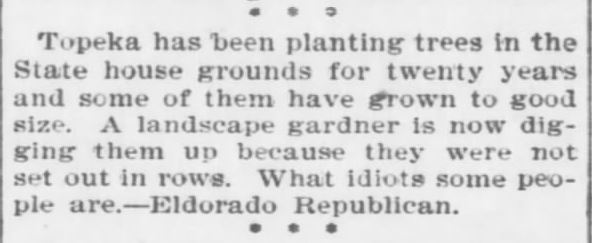 The Topeka Daily Capital, 22 April, 1896.
