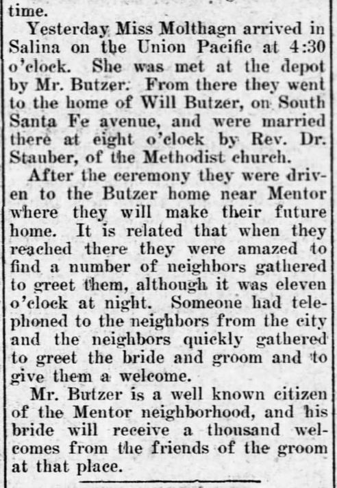 8 November, 1905. The Salina Evening Journal. Salina, Kansas. Part 2.